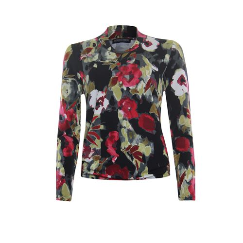 Roberto Sarto ladieswear t-shirts & tops - blouson t-shirt, fancy v-neck, l/s. available in size 38,40,44 (black,brown,multicolor,pink)