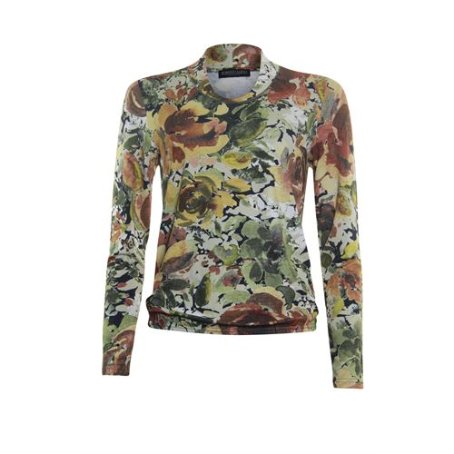 Roberto Sarto ladieswear t-shirts & tops - blouson t-shirt, fancy v-neck, l/s. available in size 38,40,44,46 (multicolor)