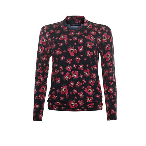 Roberto Sarto ladieswear t-shirts & tops - blouson t-shirt, fancy v-neck, l/s. available in size 40 (multicolor)