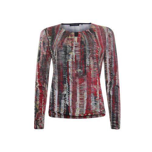 Roberto Sarto ladieswear t-shirts & tops - blouson t-shirt l/s,  o-neck  printed. available in size 38,46 (black,brown,multicolor,pink)
