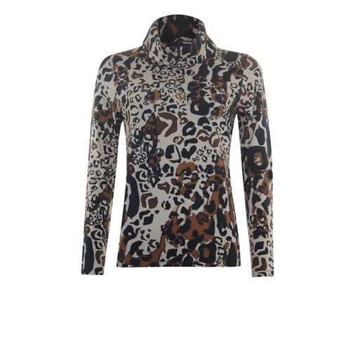 Roberto Sarto ladieswear t-shirts & tops - t-shirt rollcollar printed. available in size 42,44,46 (black,brown,multicolor)