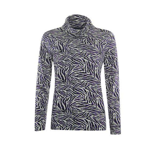 Roberto Sarto dameskleding t-shirts & tops - t-shirt kol met print. beschikbaar in maat 48 (multicolor,paars)