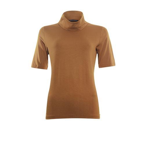 Roberto Sarto dameskleding t-shirts & tops - t-shirt kol met korte mouw. beschikbaar in maat 38,40,46 (bruin)