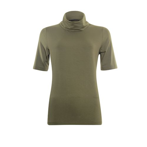 Roberto Sarto ladieswear t-shirts & tops - t-shirt rollcollar with short sleeves. available in size 40,42,44,46,48 (olive)