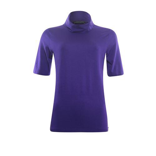 Roberto Sarto dameskleding t-shirts & tops - t-shirt kol met korte mouw. beschikbaar in maat  (paars)