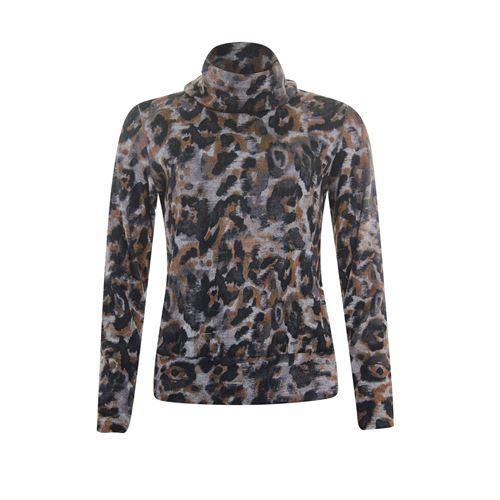 Roberto Sarto ladieswear pullovers & vests - pullover rollcollar printed. available in size 40,42,44,46 (black,multicolor)