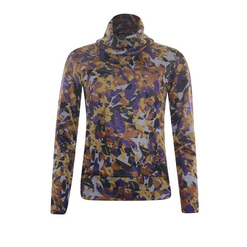 Roberto Sarto ladieswear pullovers & vests - pullover rollcollar printed. available in size 38,40,42,44,46,48 (multicolor)