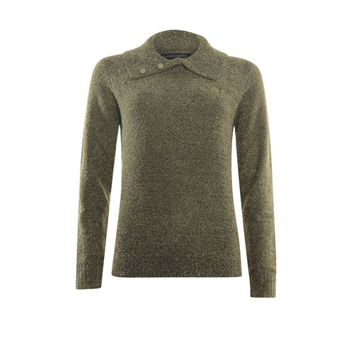 Roberto Sarto ladieswear pullovers & vests - pullover polo  bouclé. available in size 38 (olive)