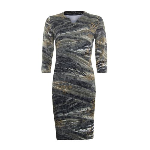 Roberto Sarto ladieswear dresses - dress 3/4 sleeves. available in size 38,40,42,44,46 (blue,multicolor,olive,yellow)