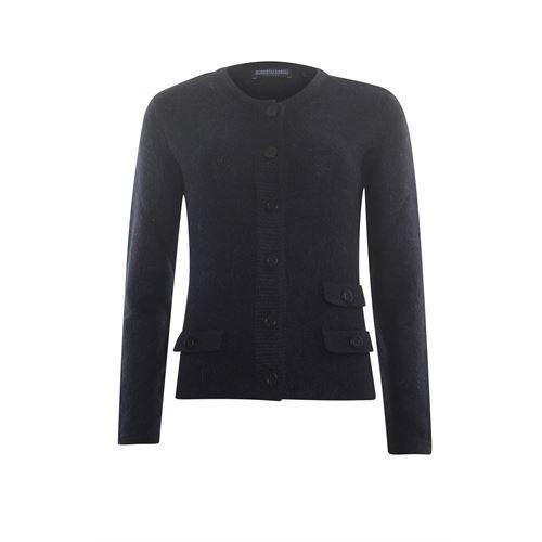 Roberto Sarto dameskleding truien & vesten - mohairmix vest met ronde hals. beschikbaar in maat 38,40,42,44,46,48 (zwart)