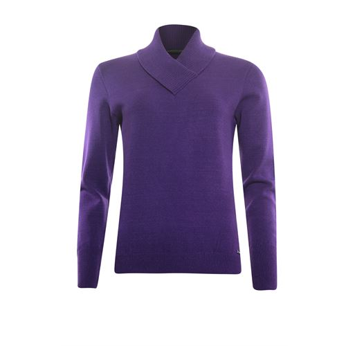 Roberto Sarto ladieswear pullovers & vests - pullover shawl collar. available in size 38,40,42,44,46,48 (purple)