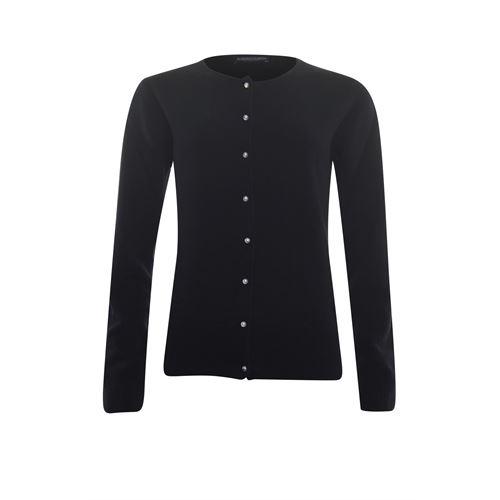 Roberto Sarto dameskleding truien & vesten - vest met parelknoopjes. beschikbaar in maat 38,40,42,44,46,48 (zwart)