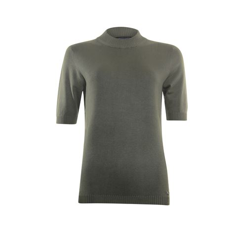 Roberto Sarto ladieswear pullovers & vests - pullover turtle short sleeves. available in size 38,40,42,44,46,48 (olive)