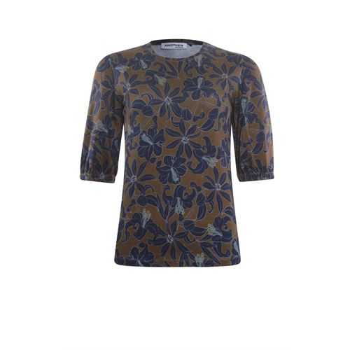 Anotherwoman ladieswear t-shirts & tops - blouse allover print. available in size 36 (multicolor)