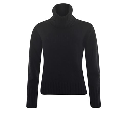 Anotherwoman ladieswear pullovers & vests - pullover with separate collar. available in size 36,38,40,42,44,46 (black)
