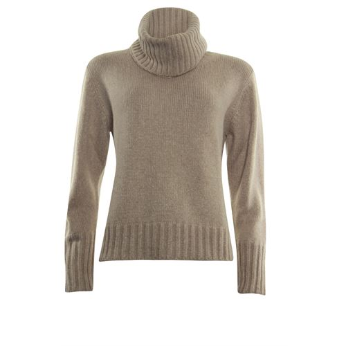 Anotherwoman ladieswear pullovers & vests - pullover with separate collar. available in size 36,38,44,46 (brown)