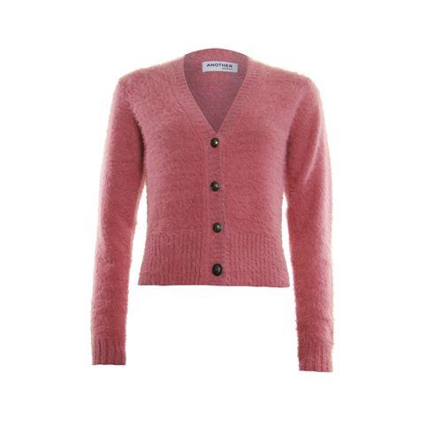 Anotherwoman dameskleding truien & vesten - vestje met v-hals. beschikbaar in maat  (roze)