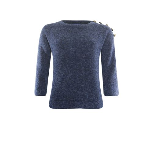Anotherwoman ladieswear pullovers & vests - pullover with buttons on shoulder. available in size 36,40,42,46 (blue)