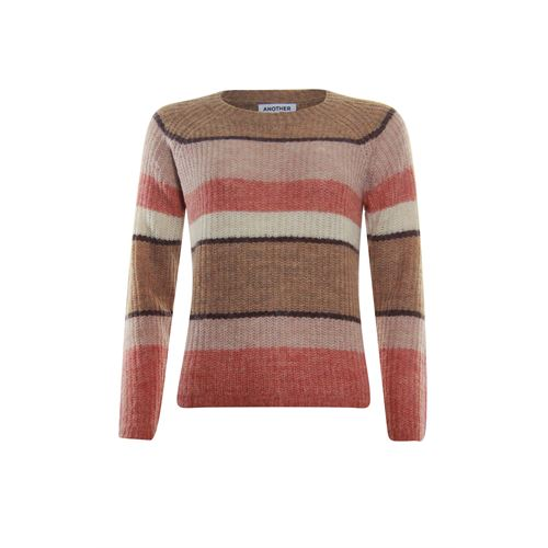 Anotherwoman ladieswear pullovers & vests - pullover o-neck striped. available in size 36,38,40,42,44,46 (multicolor,pink)