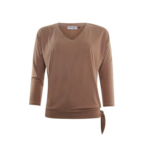 Anotherwoman ladieswear t-shirts & tops - t-shirt v-neck. available in size 36,38,40,42,44,46 (brown)