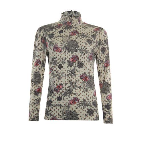 Anotherwoman dameskleding t-shirts & tops - shirt met smock kraag. beschikbaar in maat 36,38,42,46 (multicolor)