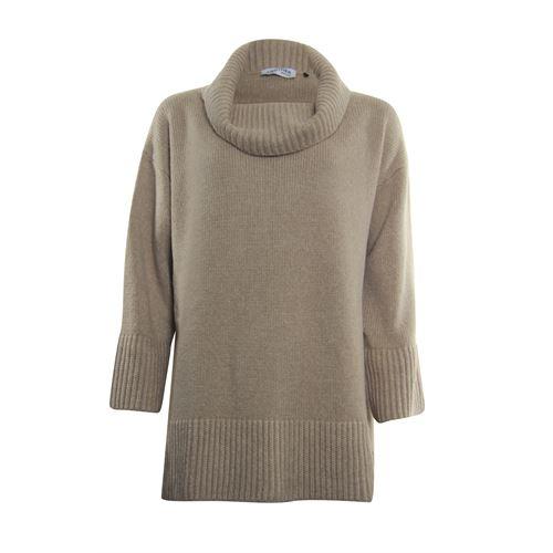 Anotherwoman dameskleding truien & vesten - trui met kol. beschikbaar in maat one size,size three,size two (bruin)