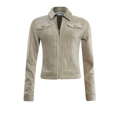 Anotherwoman dameskleding truien & vesten - vest met rits. beschikbaar in maat  (bruin)