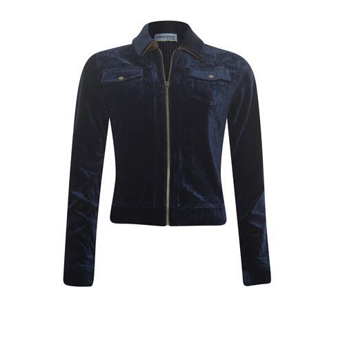 Anotherwoman dameskleding truien & vesten - vest met rits. beschikbaar in maat  (blauw)