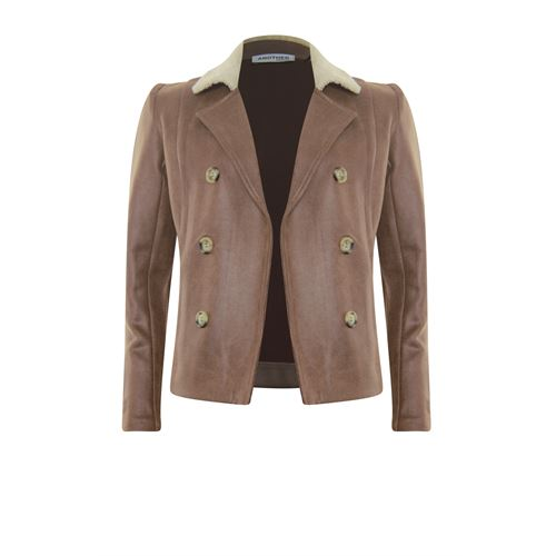 Anotherwoman dameskleding jassen & blazers - jasje nepleer. beschikbaar in maat  (bruin)