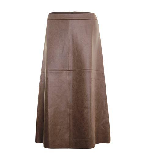Anotherwoman dameskleding rokken - rok nepleer. beschikbaar in maat  (bruin)