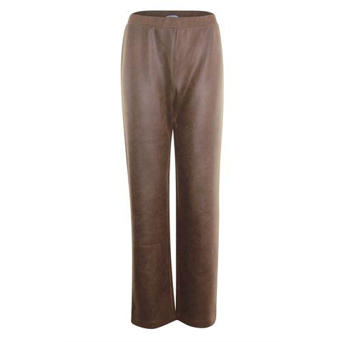 Anotherwoman dameskleding broeken - broek van nepleer. beschikbaar in maat  (bruin)