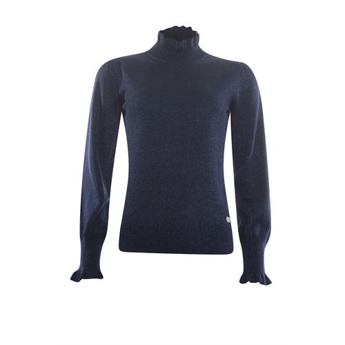 Anotherwoman ladieswear pullovers & vests - pullover turtle with ruffles. available in size 42,46 (blue)