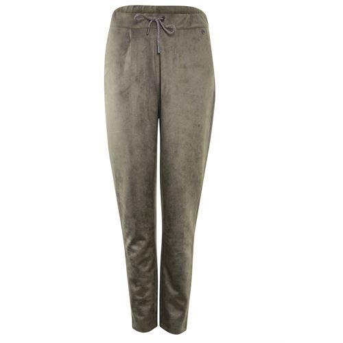 Poools dameskleding broeken - broek suede look. beschikbaar in maat 42,46 (bruin)