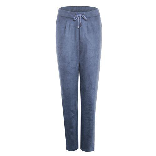 Poools dameskleding broeken - broek suede look. beschikbaar in maat 36,38,40,42 (blauw)