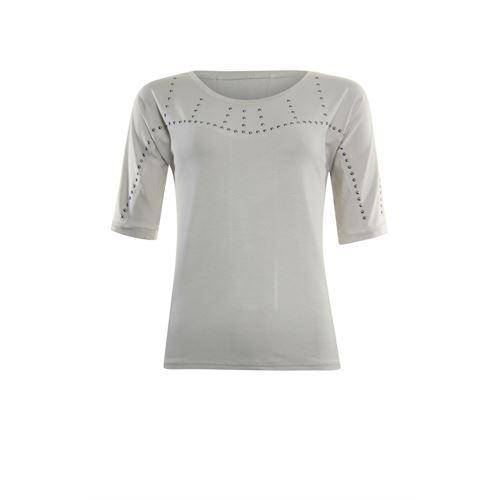 Poools dameskleding t-shirts & tops - t-shirt studs. beschikbaar in maat 36,38,40,42,44,46 (ecru)