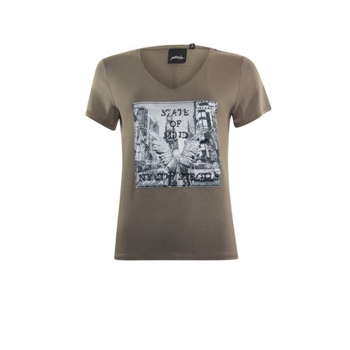 Poools ladieswear t-shirts & tops - t-shirt state of mind. available in size 38,40,42 (brown)