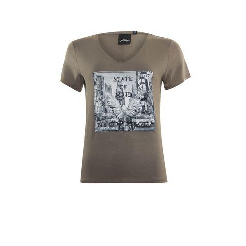 Poools dameskleding t-shirts & tops - t-shirt state of mind. beschikbaar in maat 38,40,42 (bruin)