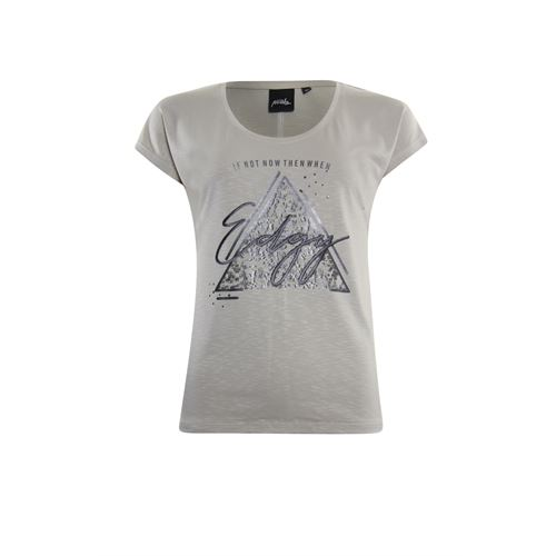 Poools ladieswear t-shirts & tops - t-shirt edgy. available in size 36,46 (off-white)
