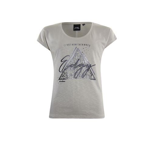 Poools dameskleding t-shirts & tops - t-shirt edgy. beschikbaar in maat 36,46 (ecru)