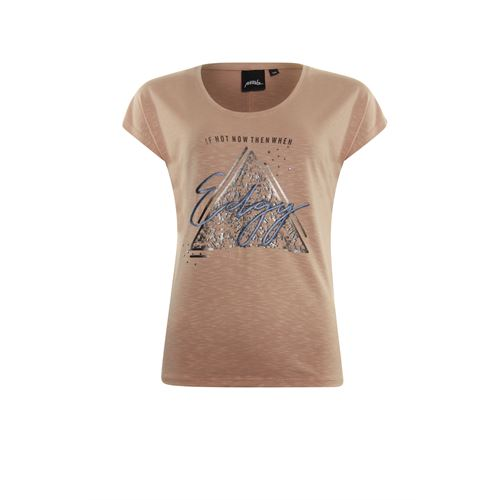 Poools ladieswear t-shirts & tops - t-shirt edgy. available in size 38,40,42,44,46 (brown)
