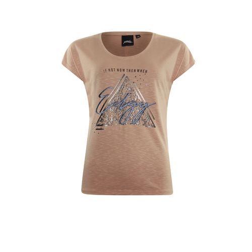 Poools dameskleding t-shirts & tops - t-shirt edgy. beschikbaar in maat 38,40,42,44,46 (bruin)