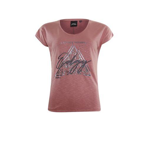 Poools dameskleding t-shirts & tops - t-shirt edgy. beschikbaar in maat 38,40,42 (roze)