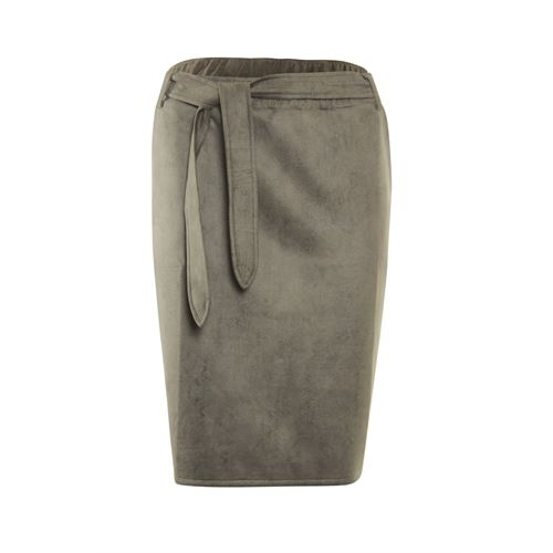 Poools ladieswear skirts - skirt suede look. available in size 38,40,42,44,46 (brown)