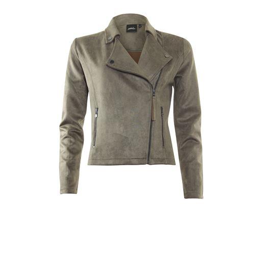 Poools dameskleding jassen & blazers - jasje biker. beschikbaar in maat 38,42 (bruin)