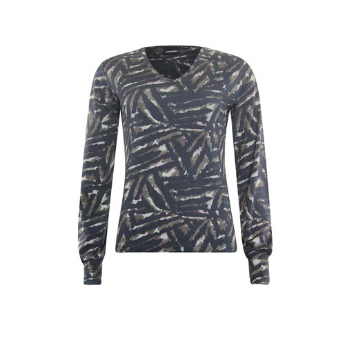 Poools dameskleding t-shirts & tops - t-shirt print. beschikbaar in maat 36,38,40,42 (multicolor)