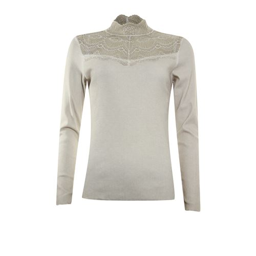 Poools ladieswear t-shirts & tops - t-shirt rib. available in size 36,38,40,42,44,46 (off-white)