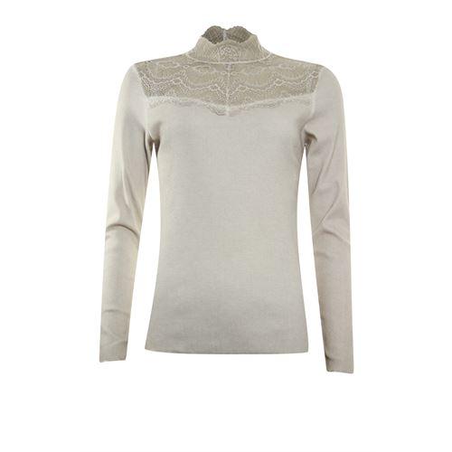Poools dameskleding t-shirts & tops - t-shirt rib. beschikbaar in maat 36,38,40,42,44,46 (ecru)