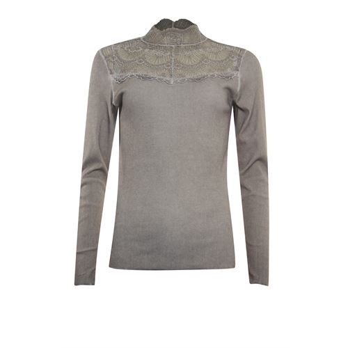 Poools ladieswear t-shirts & tops - t-shirt rib. available in size 38,40,42,44,46 (brown)