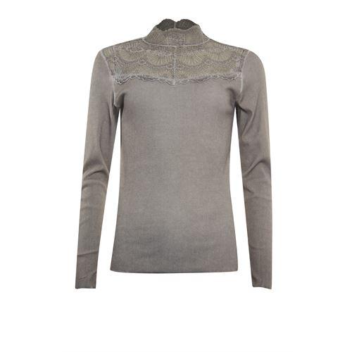 Poools dameskleding t-shirts & tops - t-shirt rib. beschikbaar in maat 38,40,42,44,46 (bruin)