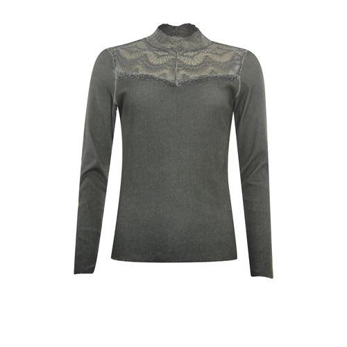 Poools dameskleding t-shirts & tops - t-shirt rib. beschikbaar in maat 36,38,40,42,44,46 (olijf)